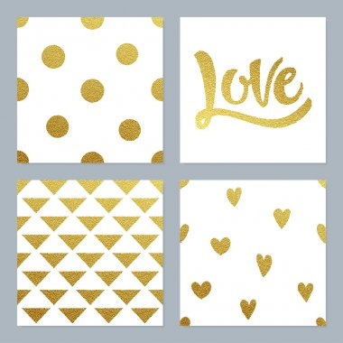Gold glitter pattern set