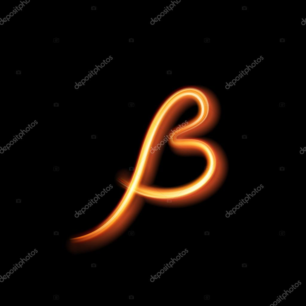 glowing light letter sing escet hand lighting painting stock