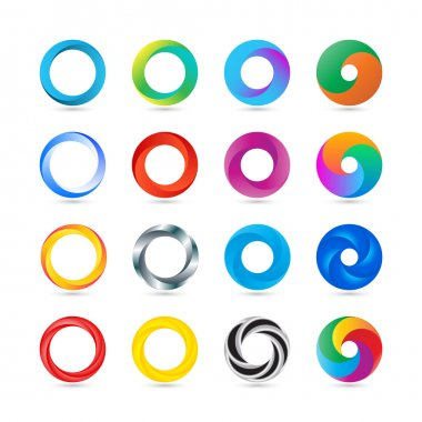 Business Abstract Circle logo icon.