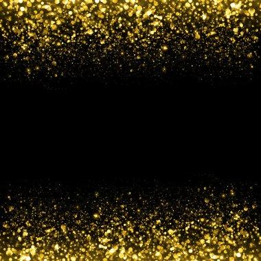 Gold glittering sparks background