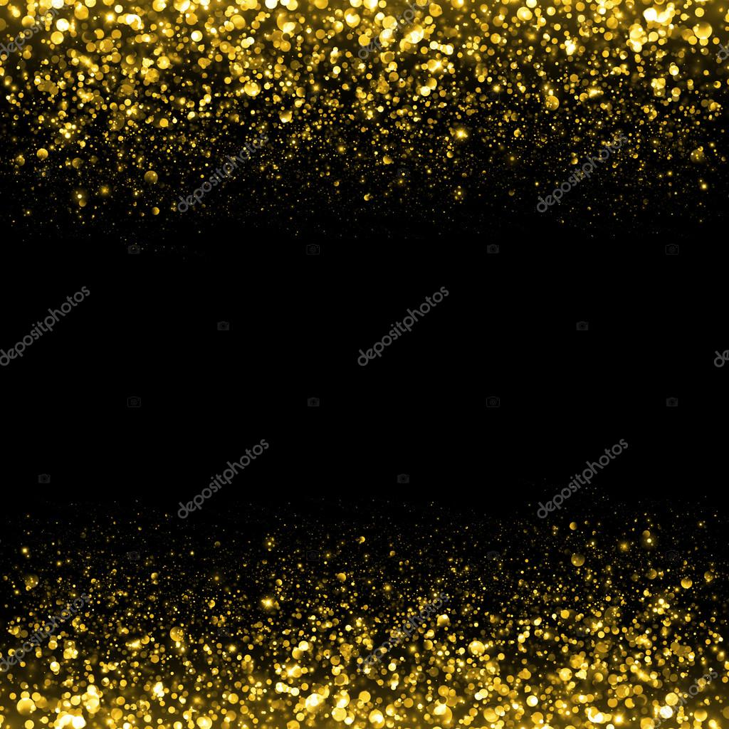 Gold glittering sparks background