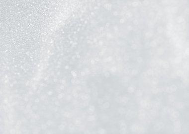 White sparkling texture of snowflakes