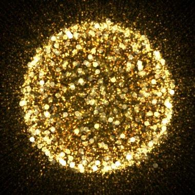 Gold sparkle glitter explosion background