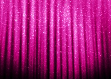 Pink sparkle glitter curtains