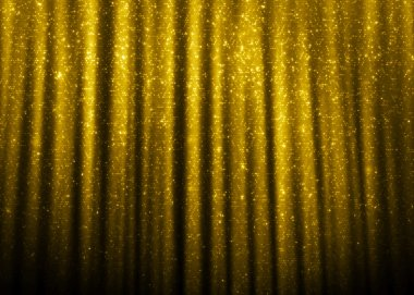 Gold sparkle glitter curtains
