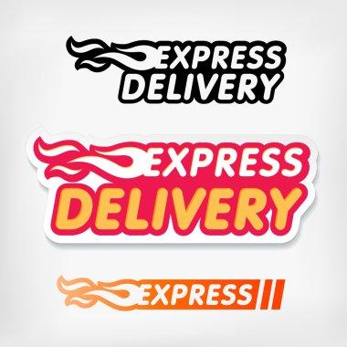 Express delivery symbols. Vector