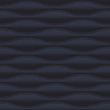 Black wavy panel seamless texture background.