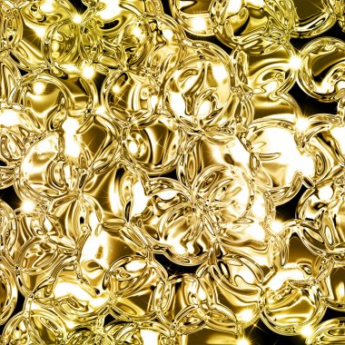 Illustration of abstract gold background