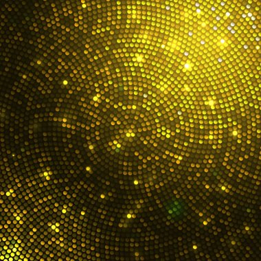 Gold sparkle glitter sequins mosaic background.