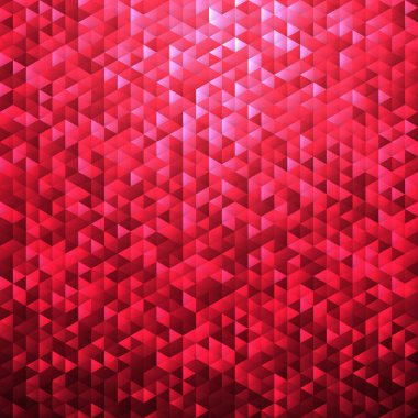 Red pink glittering lamina sequins mosaic pattern.