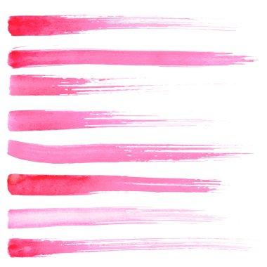 Set of vector hadnpainted brush strokes.