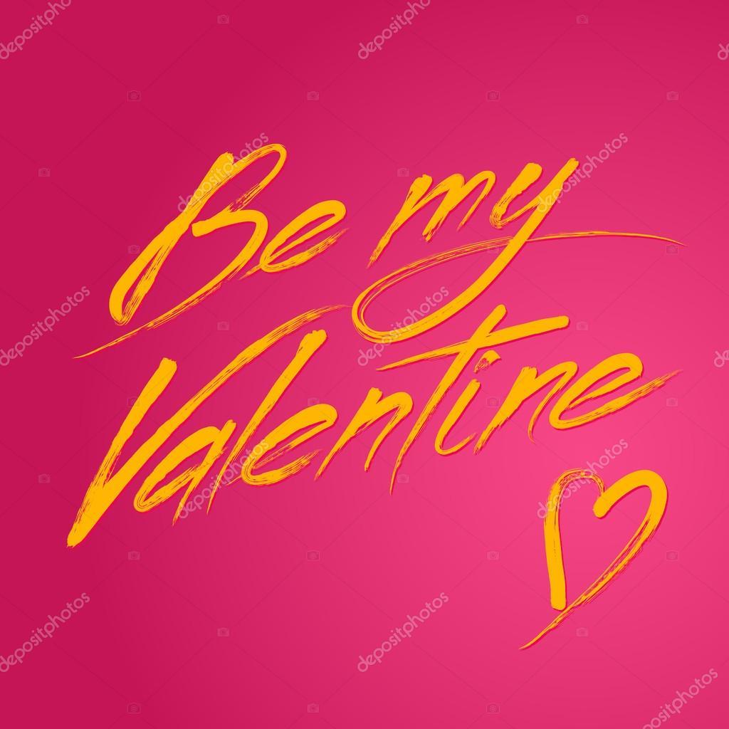 Vektor-Farben-Pinsel gemalt werden My Valentine schreiben ...