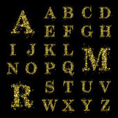 Šumivé flitry písmo zlaté třpytky sada A až do Z