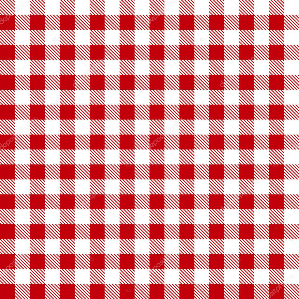 Seamless Red White Tablecloth Pattern Stock Vector Sergeyyyyy
