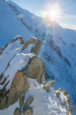 Big scenery at the top of the Aiguille du Midi