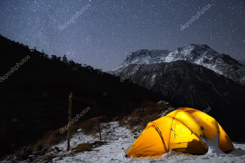 Camping under the light of billion stars
