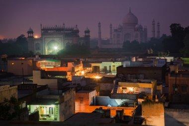 Cityscape with Taj Mahal