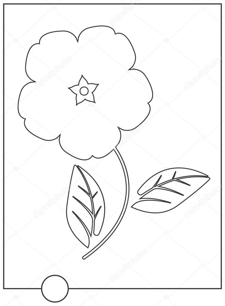 Sevimli çiçek Boyama Kitabı Stok Vektör Da6kin 115074242