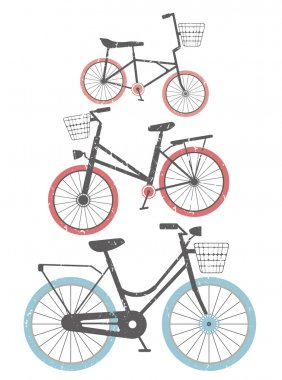 Set of retro bicycles