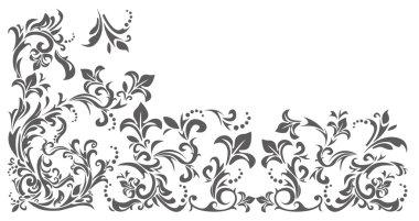 Vintage border with floral ornament