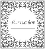 Elegant oval frame with vintage floral ornament