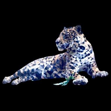 low poly leopard