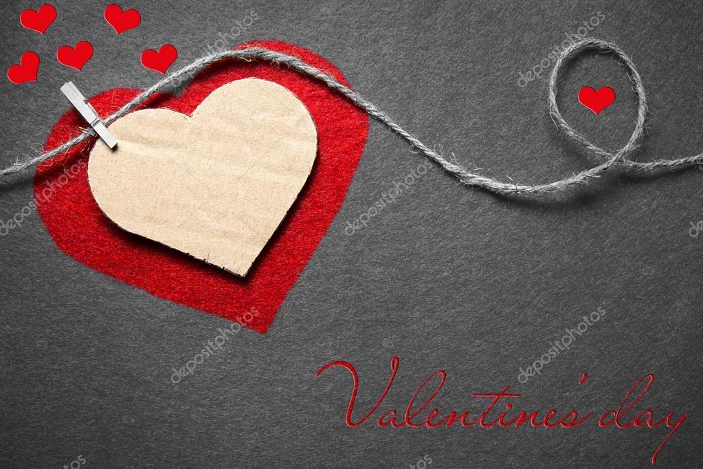 Nero Bianco Rosso Giorno Di San Valentino Cuore Di Cartone Sulla