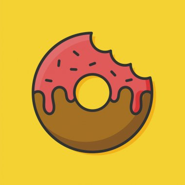 donut color line icon