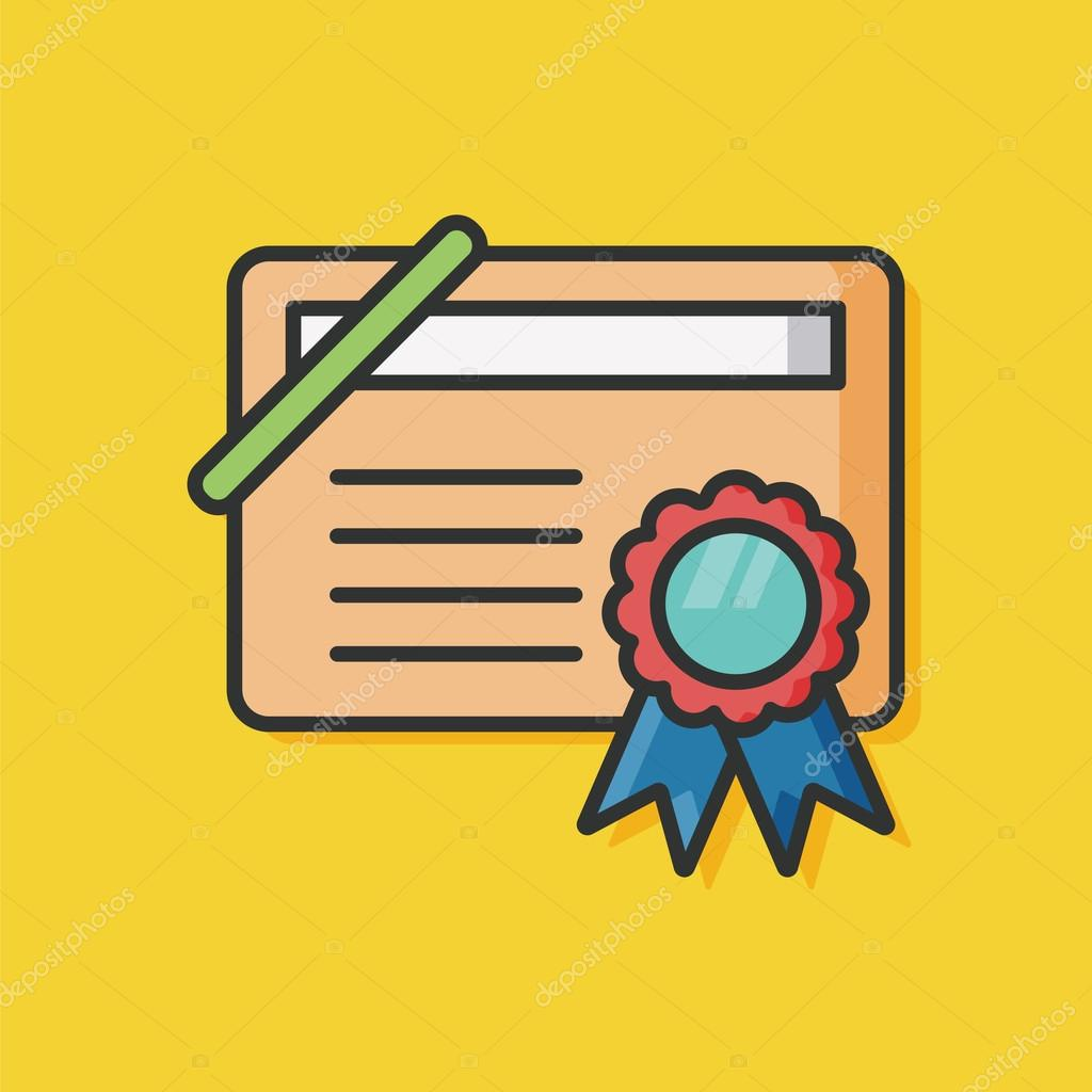 award certificate paper icon stock vector chialinart 94239288