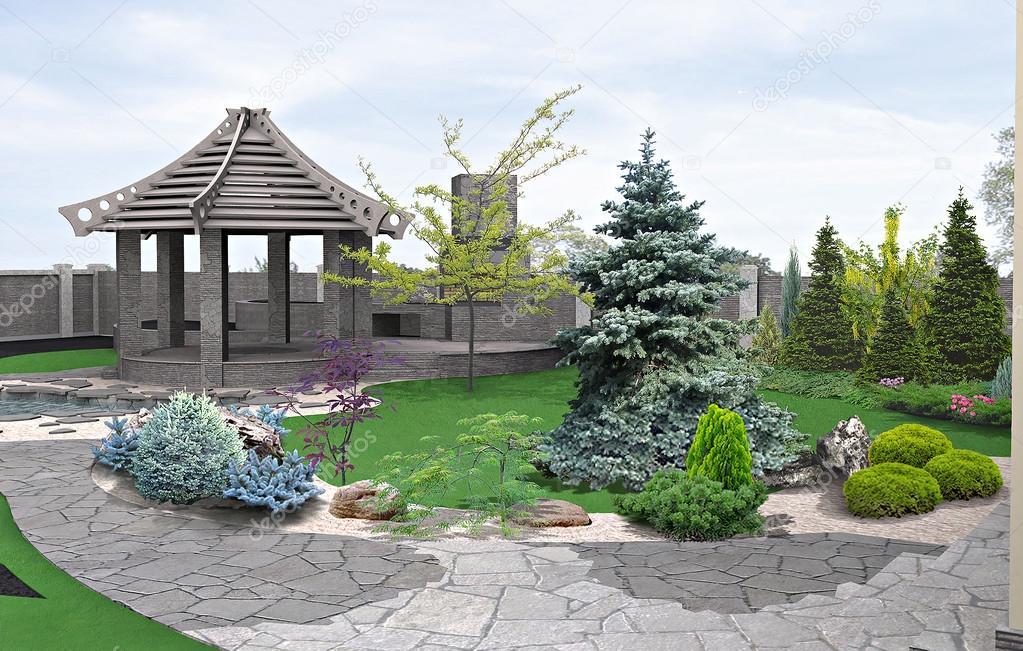 Alfresco living area, 3d render