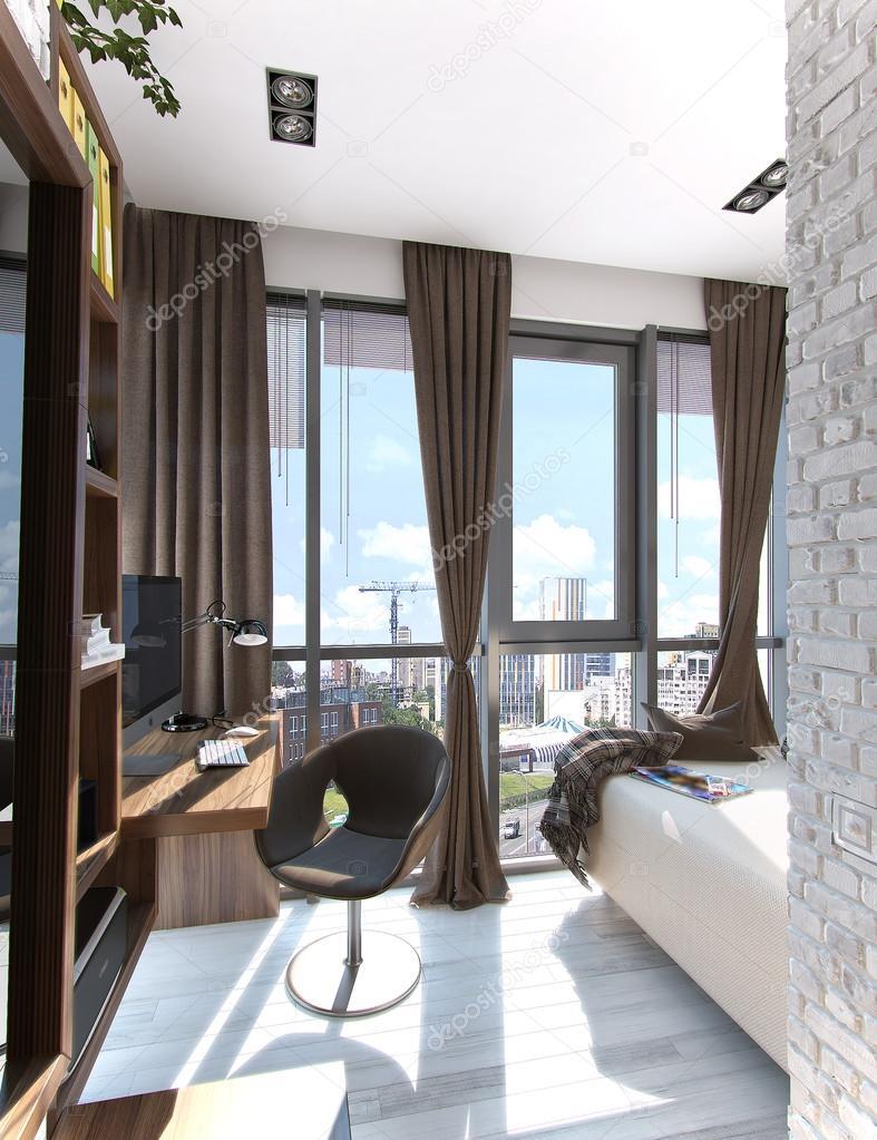 Pictures Balcony Design Ideas Bedroom Balcony Ideas 3d Rendering Stock Photo C Threedicube 107429302
