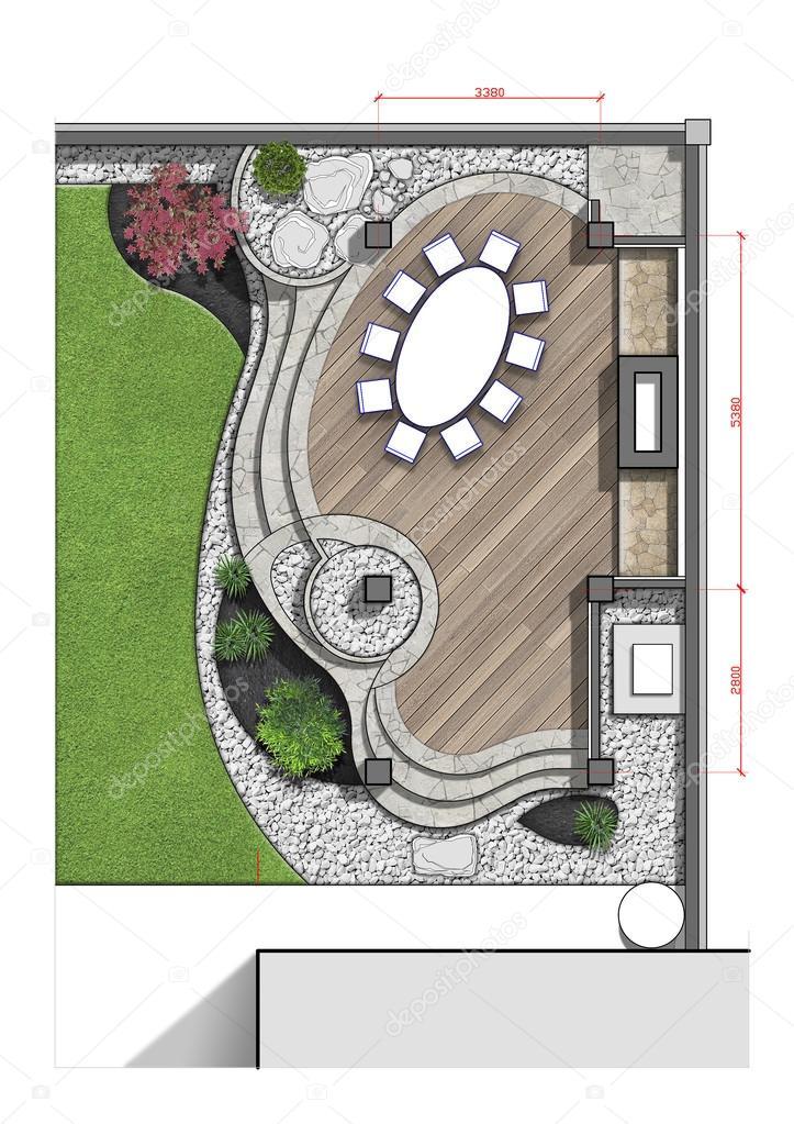 Backyard master plan, 2d sketch