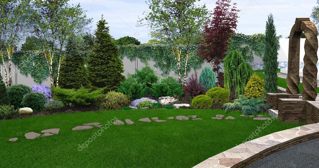 Beautiful backyard makeovers, 3d illustration