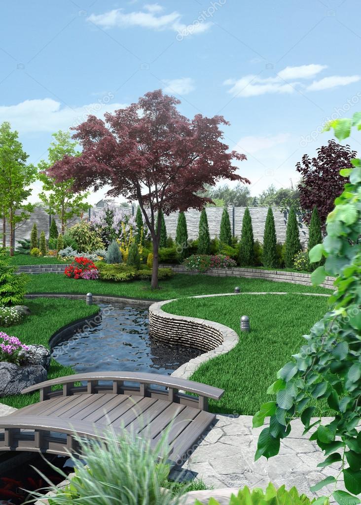 Outlook Landscape Scenery Style, 3D Rendering