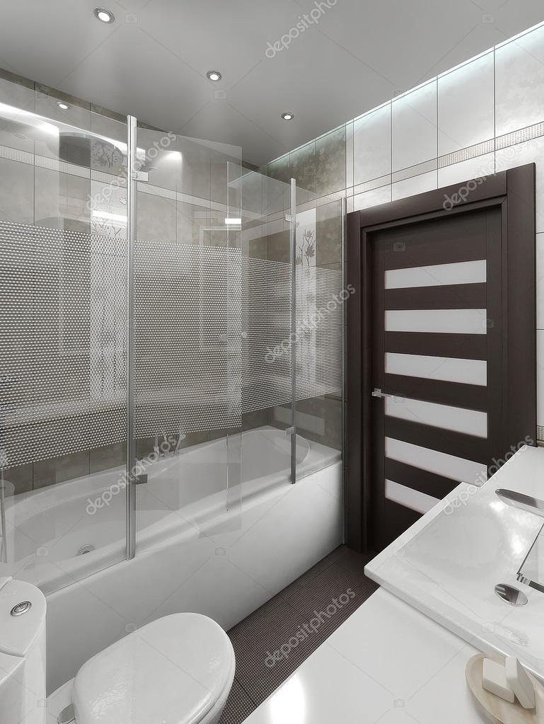 Bathroom minimalist style interior design render 3d for Minimalist design style