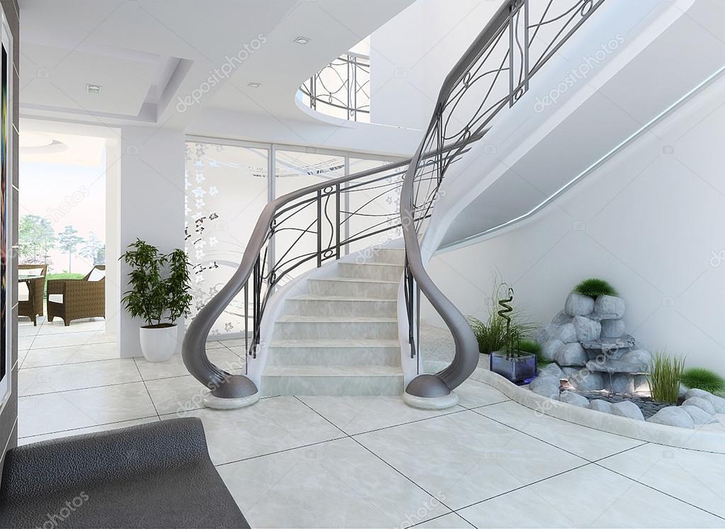 Functionele kunst in modern interieur 3d renderen u2014 stockfoto