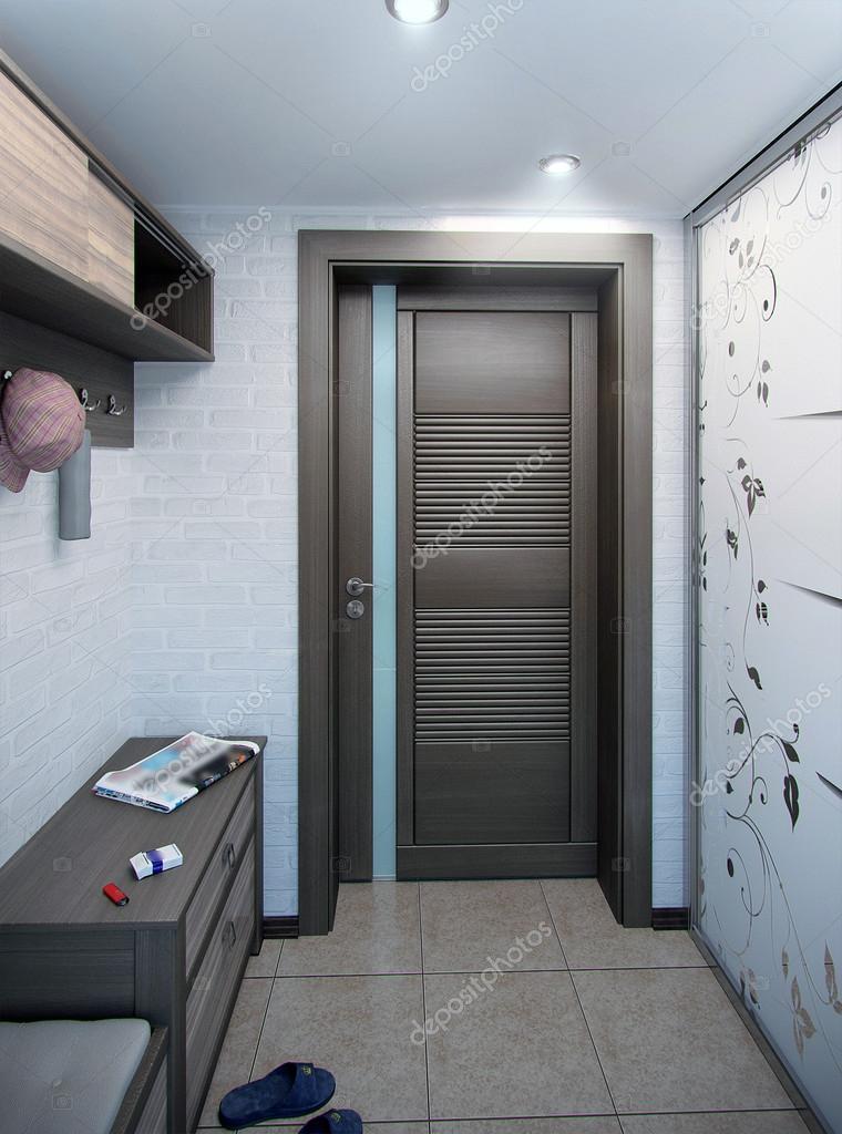 Minimalisme hal interieur, 3d render — Stockfoto © ThreeDiCube #98404894