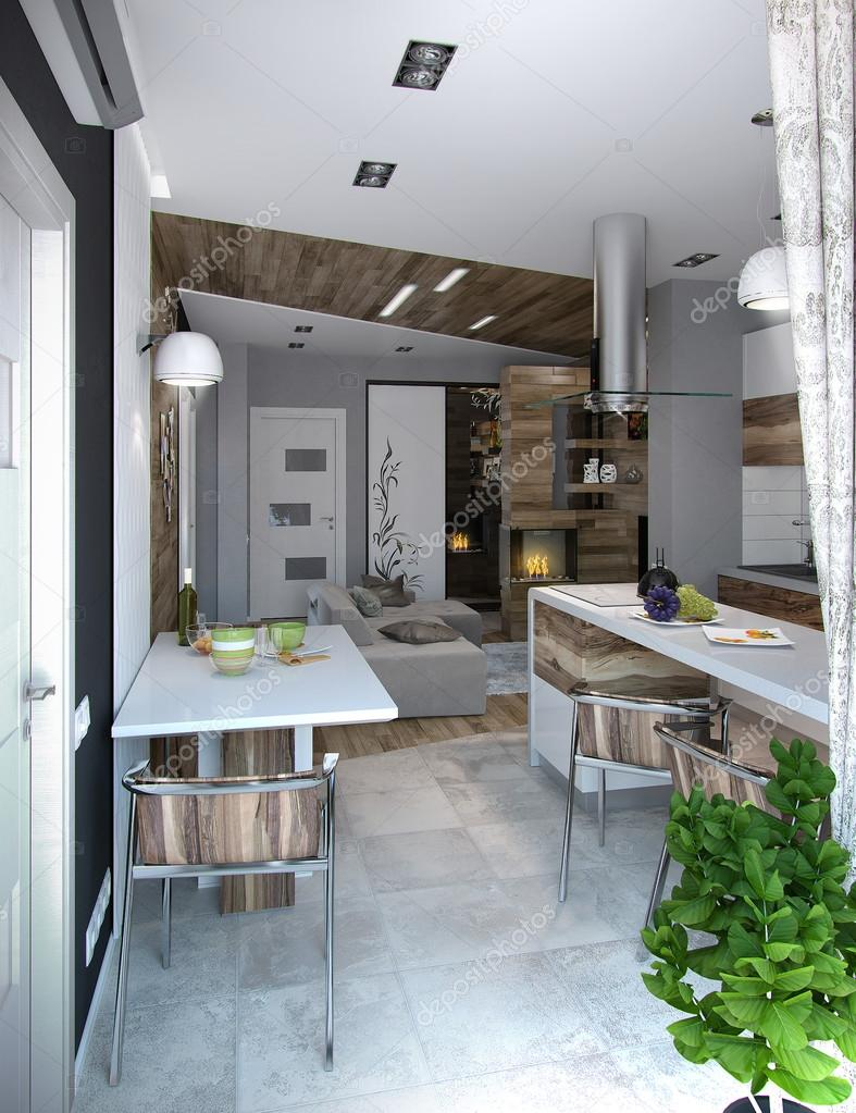 Open Concept Kitchen And Living Room Arranging Spaces Functional Partitioning Welldefined Through Decoration Accents Photo By ThreeDiCube