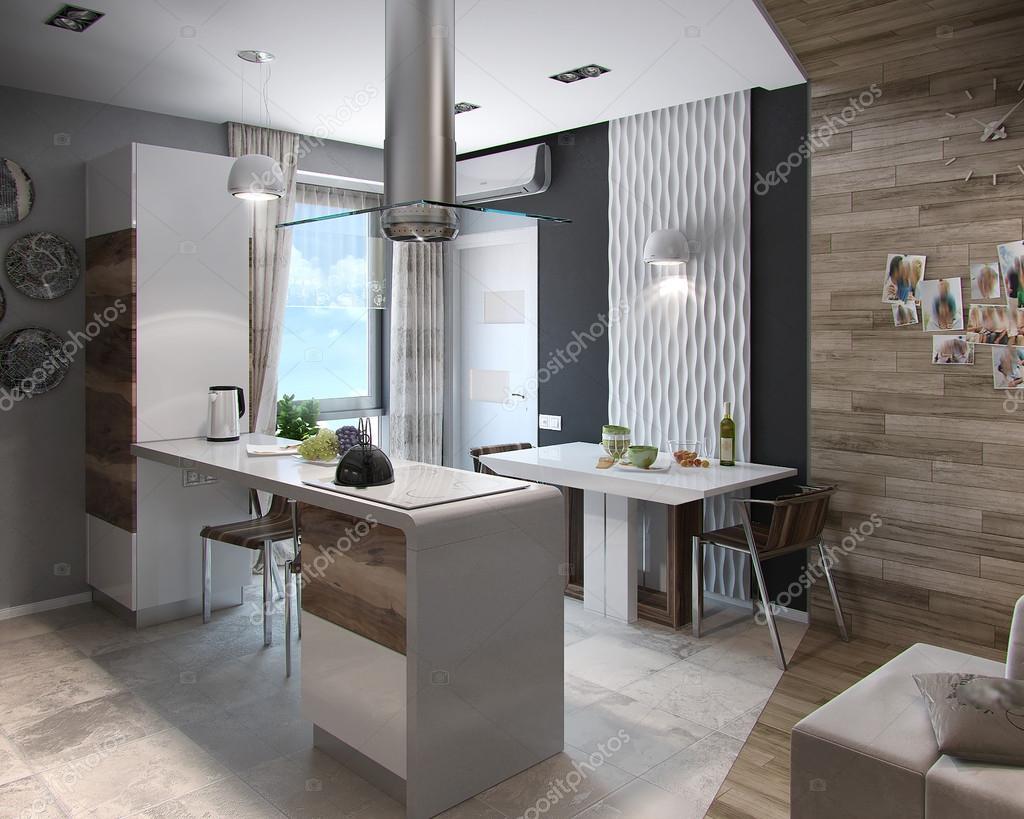 Estudo De Cozinha Moderna Render 3d Stock Photo Threedicube