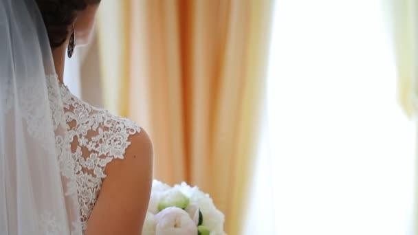 Menyasszonya áll felkészülés elborzadtak Menyasszonyi budoár