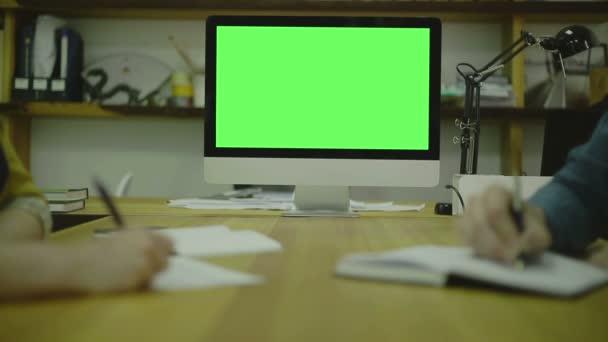 Psaní kódu pro na papíře. View1. Obrazovka pro zesměšňovat nahoru