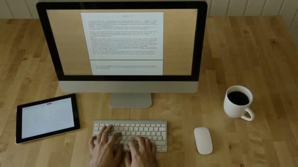 Gépelés-on könnyű fából készült íróasztal a Laptop a mozgás part1.