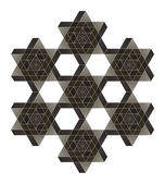 Fotografie Impossible star of David vector