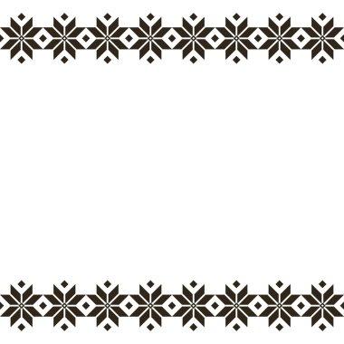 Belorussian sacred ethnic ornament, seamless pattern. Vector illustration. Slovenian Traditional Pattern Ornament. Seamless Background. Belarusian pattern.
