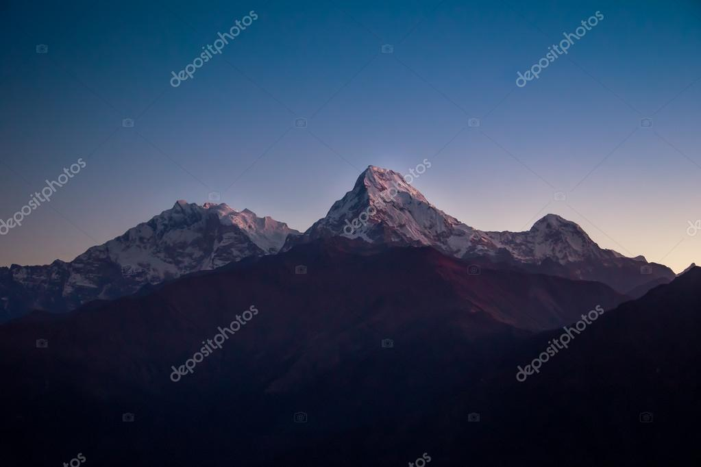 Himalayan mountains at sunrise
