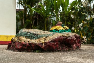 Bob Marley's rock pillow