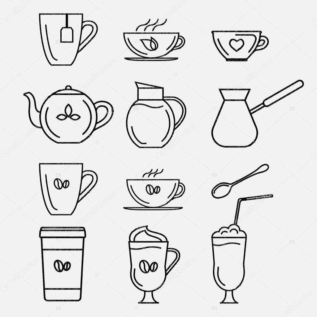 Coffee and tea cups.