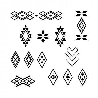 Vector Tribal elements, ethnic collection.