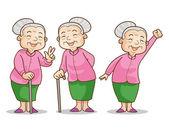 old woman benign