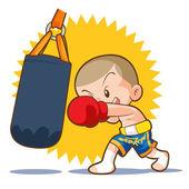 Photo muaythai sandbag boxing hit
